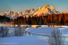 A Grand Morning (James Neeley) Tags: winter mountains sunrise landscape grandtetons tetons hdr grandtetonnationalpark 5xp flickr5 mywinners jamesneeley