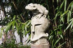 sweet gargoyle / Herbert the dragon (Gerd Pauluen) Tags: germany garden deutschland dragon helmet gargoyle nrw garten nordrheinwestfalen helm drache herbertderdrache herbertthedragon fionajanescott