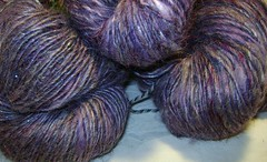 purple quartz handspun