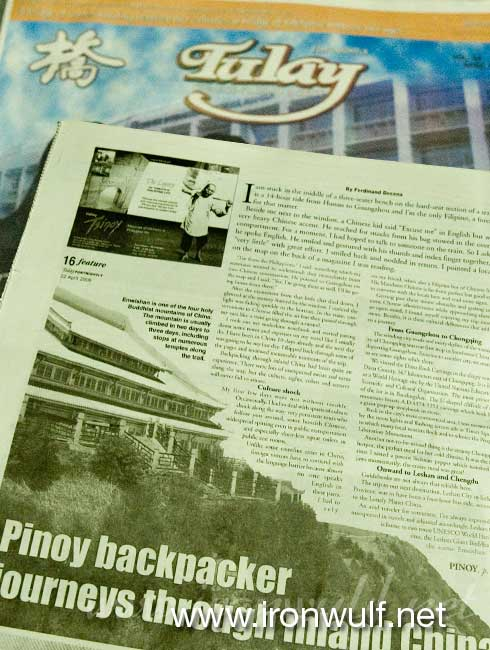 Tulay Article back page