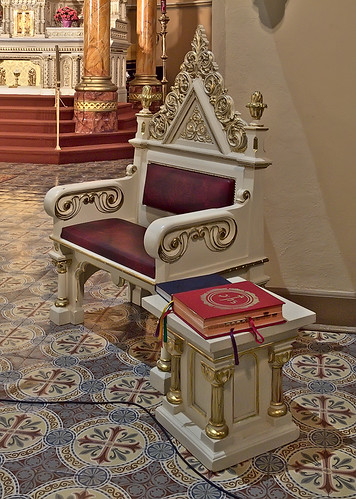 Saint Anthony of Padua Roman Catholic Church, in Saint Louis, Missouri, USA - priest's chair