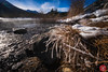 Frosty grass (Kasia Sokulska (KasiaBasic)) Tags: fujix canada alberta vermilionlakes banff rockies mountains nature lake landscape frost water