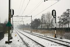 Spoorweg (timvanessen) Tags: station bloemendaal spoor spoorweg spoorwegovergang