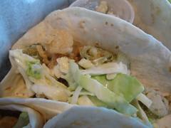 verde taqueria - fried calamari taco