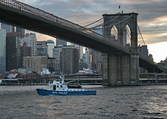 BROOKLYN BRIDGE - NYPD HARBOR (kevinh_photos) Tags: harbor police nypd brooklynbridge eastriver kevinhphotos