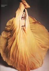 (purits) Tags: orange yellow gold dress silk vogue editorial gown ferragamo salvatore butterscotch leatherbelt