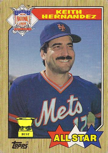 Baseball Card Bust Keith Hernandez 1987 Topps All Star