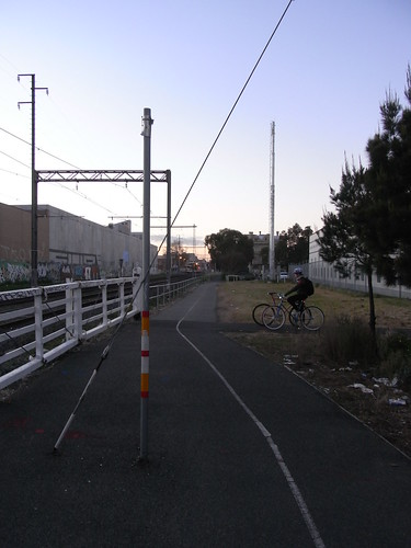 Upfield Path Hazard - Brunswick Rail Footbridge