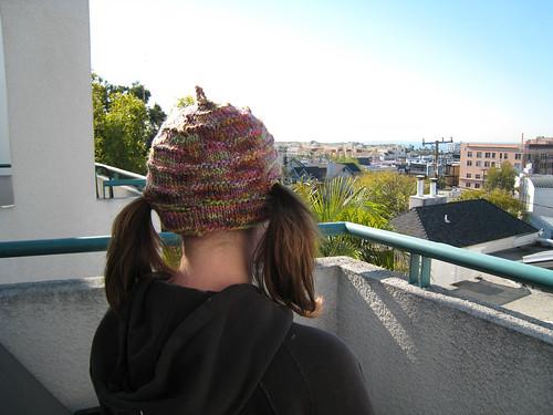 Patron gratuit bonnet tricot couettes