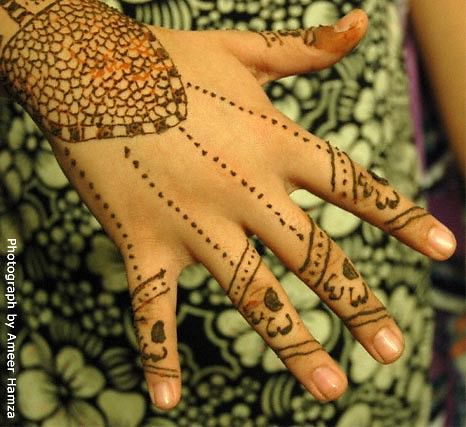Mehndi: Hand design patterns