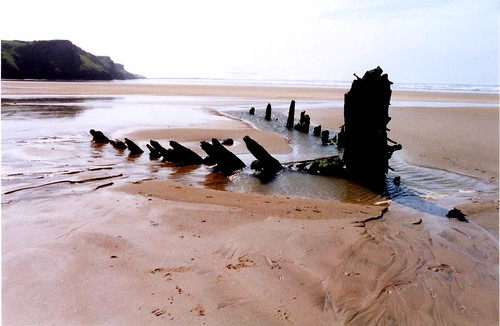 The Wreck of the Helvetia at Rhossili