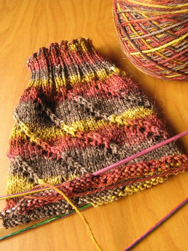Spiral Eyelet Sock
