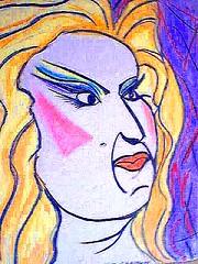 Divine. (JasonB.) Tags: jason art film john star chalk artwork drawing pastel divine actress actor waters
