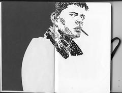 Control letraset (walterh) Tags: portrait face illustration design sketchbook letraset