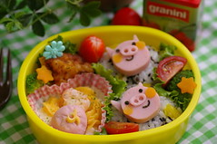 Three pigs bento box (luckysundae) Tags: bento bentobox kyaraben
