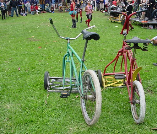 bicycle lawn mower