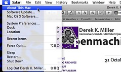 Leopard with proper menu bar at Flickr.com