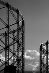 Gazometro (Francesco Basile) Tags: sky backlight iron gas gossamer gasometro francescobasile gasometric cicciomcqueen