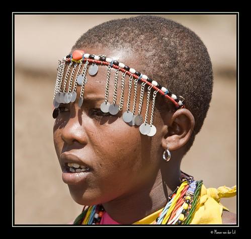 Maasai woman...