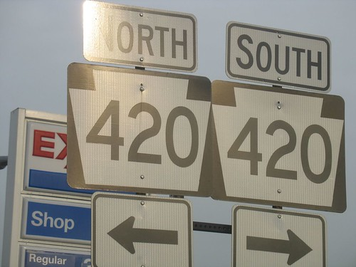 High way 420, Pennsylvania