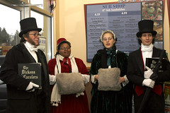 The Dickens Carolers at the sub shop