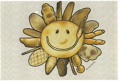 Sun Bread (superpralinix) Tags: food sun smile bread bakery draw disegno boulangerie grafica panificio