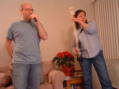 playing rock band