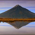 Taranaki reflected in the Pouakai Tarns