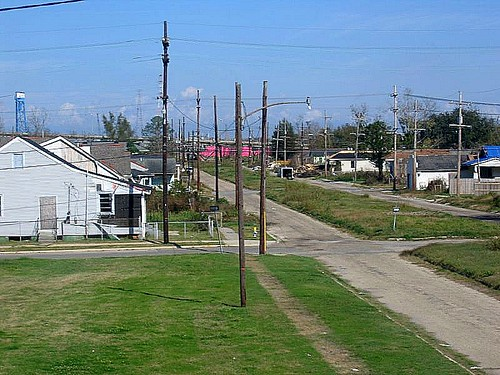 Brad Pitt's housing project in the Ninth Ward. New Orleans. Louisiana. USA. December 2007
