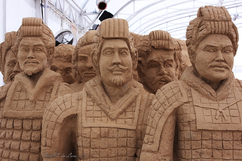 Warriors @ World Sand Sculpture Festival, Chacherngsao, Thailand