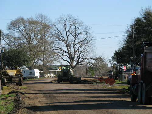 Roadworks near Mamou, Louisiana, USA