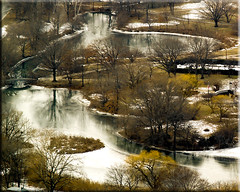 Winter Gardens (Jen Murray (tollerSCREAM)) Tags: trees winter snow water boston river garden massachusetts aerial fens utataview