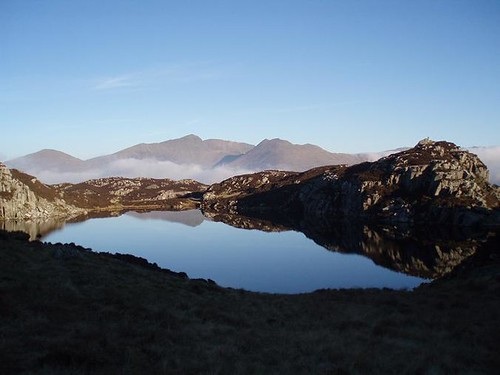 Snowdon Reflected in one of Llynnau Cerrig y Myllt