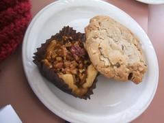 Pecan nest, maple walnut cookie