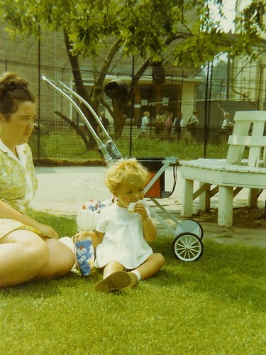 Mum and I picnicing at Bristol Zoo