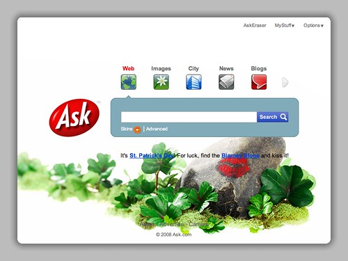 Ask.com St Patrick's Day Logo