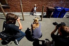 Pose For Gum (Jeremy Brooks) Tags: california camera people brick wall photographer sam bricks meta wide photographers richmond pointrichmond andrewmoore henrikjohansson karenstrolia photowalk20080412