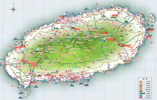 제주도 관광 지도