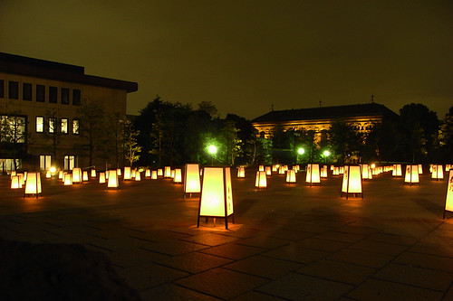 Yakushi-ji exhibition votive candle 03