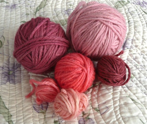 Pink and Rose Wool Yarn
