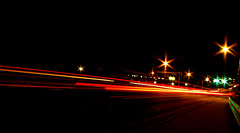 Light trails (Leo Druker) Tags: longexposure beginning manassas lighttrails amateur 30secondexposure lighttrail wideanglelens 15secondexposure princewilliamcounty nighttimephoto beginnerdigitalphotography chdk canons5is 30lighttrail