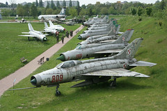Cold War Fighters (Merlin_1) Tags: fighter jet poland krakow mig paf sukhoi mig21 warsawpact polishairforce aviationbaremetal polishaviationmuseum