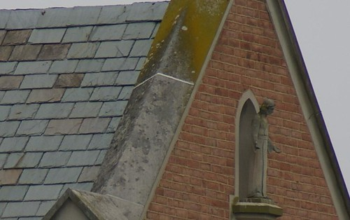 Church steeple detail.