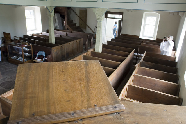 Looking from the pulpit