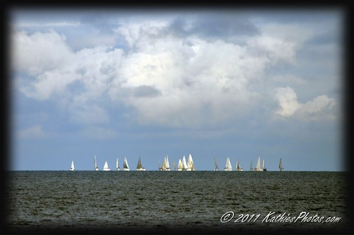 Yachts on the horizon