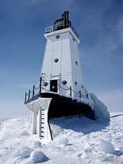 Ludington North Pier Lighthouse (daveumich) Tags: winter snow ice michigan lakemichigan greatlakes