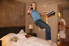 Best Picture Ever (NoellieBellie) Tags: girls friends hotel flying crazy jump jumping magic levitation halfnaked halfbaked bedjump jumpinggirls thebestofday gnneniyisi girlsintowels