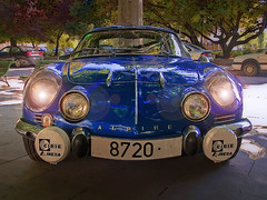 Still got the blues (Sator Arepo) Tags: blue classic car sport azul vintage lights drive reflex rally engine olympus racing renault antiguos alpine vehicle coches deportivo faros concentracin e500 zd uro 1454mm bolido sator zd1454mm arepo satorarepo