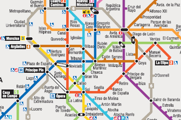 Madrid Old Subway Map