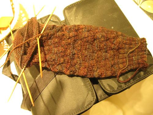 sock texture detail